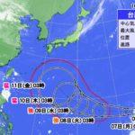 台風19号 最新 進路予想 気象庁 米軍 3連休 日本列島 直撃 東海地方 影響